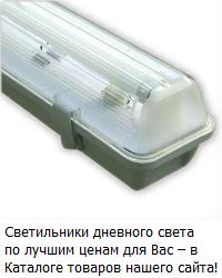 Светильник для ламп дневного